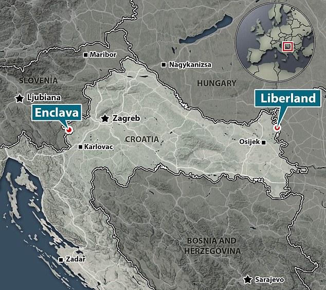 LIverland + Enclava mapa